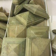 Keynsham Timber & Hardware Pyramid Newel Caps Large
