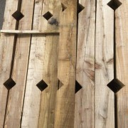 Keynsham Timber Notched Posts